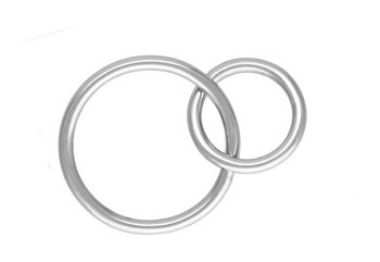 Large Double Loops 12-16mm - Sterling Silver