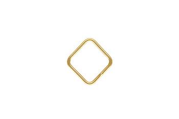 Mini Open Diamond / Square - 14kt Gold Filled