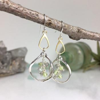Organic Split Drop - Sterling Silver