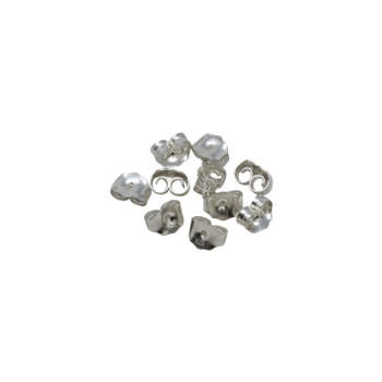 Sterling Silver Earring Backs - 10 Pieces