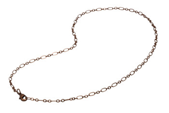 "Antique Copper 18"" Oval Link Chain With Trigger Clasp"