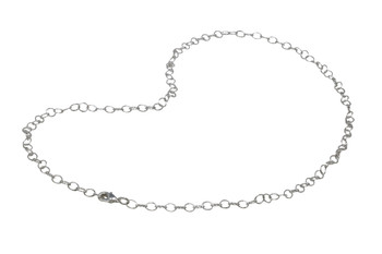 "Silver Plated 24"" Cable Link Chain With Trigger Clasp"