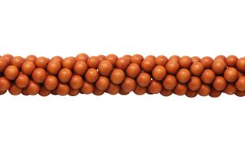 Dyed Orange Wood Polished 8mm Round