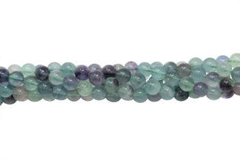 Rainbow Fluorite A Grade Polished 8mm Round