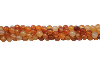 Natural Carnelian Polished 8mm Round