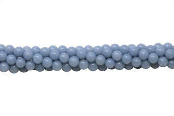 Natural Blue Angelite A Grade Polished 8mm Round