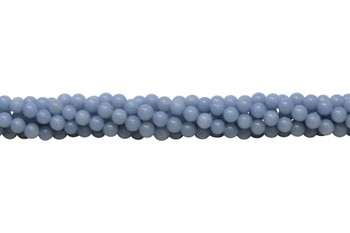 Natural Blue Angelite A Grade Polished 6mm Round