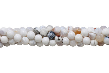 White Fire Agate Polished 10mm Round