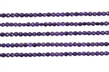 Amethyst AA Grade 4mm Faceted Coin