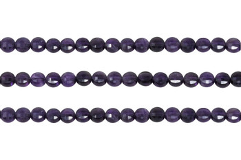 Amethyst AA Grade 6mm Faceted Coin