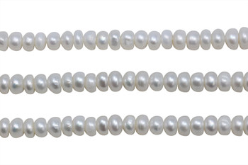 White Freshwater Pearls 6-7mm Button