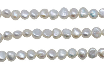 White Freshwater Pearls 8-9mm Nugget