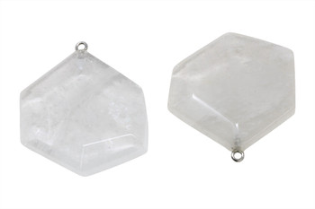 Crystal Quartz Faceted Slab Pendant