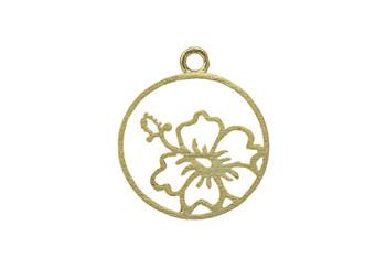 Framed Hibiscus Flower - Vermeille