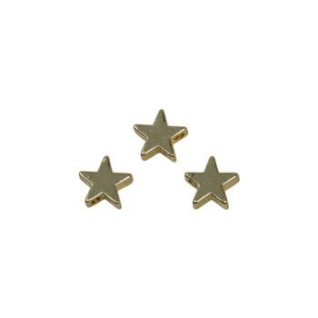 Gold 8x11.5mm Star Charm Bead