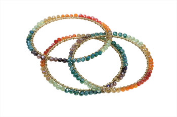 4mm Multi Color Crystal Wrapped Bohemian 60mm Hoop