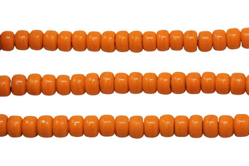 Opaque Orange 8mm Glass Pony Beads
