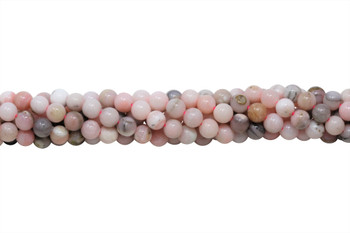 Natural Pink Opal Polished 6mm Round