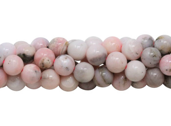 Natural Pink Opal Polished 8mm Round