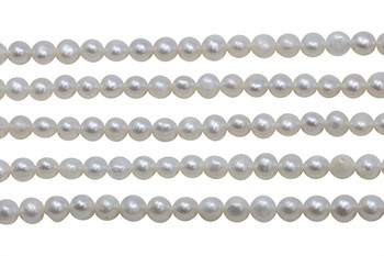 Ivory White Freshwater Pearls 6-7mm Potato