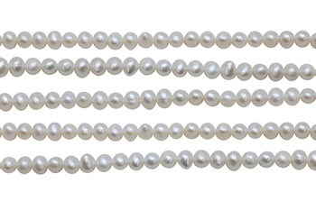 White Freshwater Pearls 5-6mm Potato