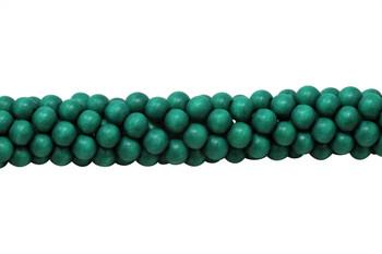 Dyed Emerald Wood Polished 8mm Round
