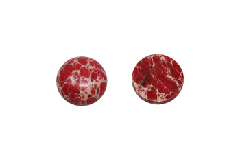 Dyed Red Impression Jasper Polished 15mm Round Cabochon