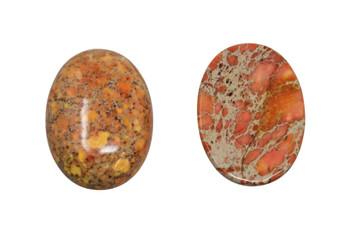 Dyed Orange Impression Jasper Polished A Grade 22x30mm Oval Cabochon