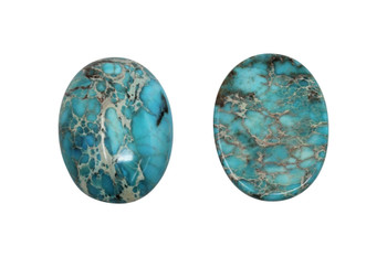 Dyed Turquoise Impression Jasper Polished A Grade 22x30mm Oval Cabochon