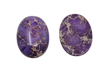 Dyed Purple Impression Jasper Polished A Grade 22x30mm Oval Cabochon