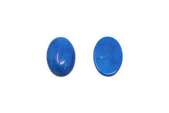 Dyed Blue Jade Polished 10x14mm Oval Cabochon