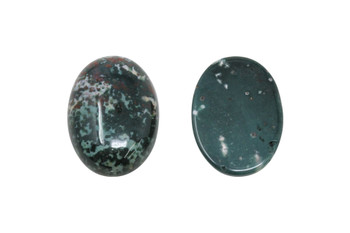 Moss Agate Polished 18x25mm Oval Cabochon