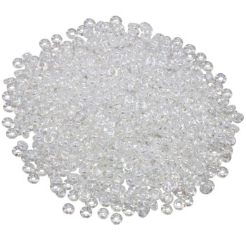 Size 8 Toho Demi Round Seed Beads -- Transparent Crystal Rainbow