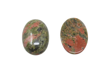 Unakite Polished 18x25mm Oval Cabochon
