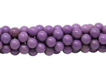 Phosphosiderite Polished 8mm Round - Light Purple