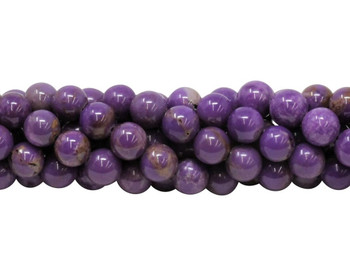 Phosphosiderite Polished 8mm Round - Dark Purple