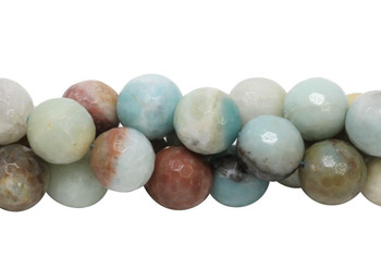 Amazonite Polished Multi Color 18mm Faceted Round
