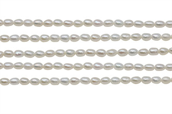Freshwater Pearls 6x4mm Rice
