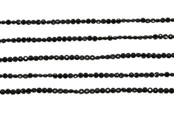 Black Spinel Polished 2mm Faceted Coin