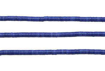 Dyed Agate Polished 4x1.5mm Wheel - Royal Blue
