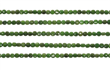 Chrome Diopside Polished 3.5mm Faceted Coin
