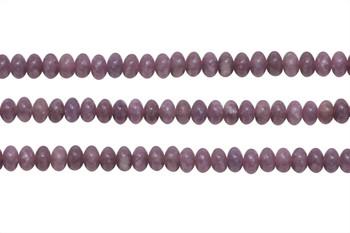 Lepidiolite Polished 6mm Rondel