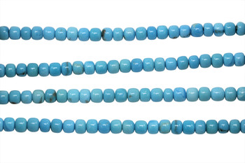 American Turquoise Polished 5x3mm Rondel