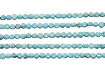 Howlite Turquoise Polished 6mm Faceted Coin