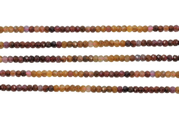 Multi Color Spinel Polished 3x4mm Faceted Rondel