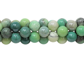Green Opal Coated Polished 10mm Round