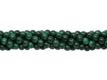 Malachite Polished 4mm Round