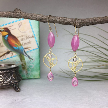 Framed Hummingbird - Vermeille