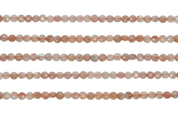 Sunstone Polished 4mm Faceted Coin