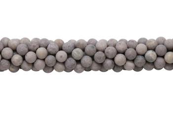 Lepidiolite Matte 8mm Round